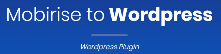 Mobirise to WordPress Plugin