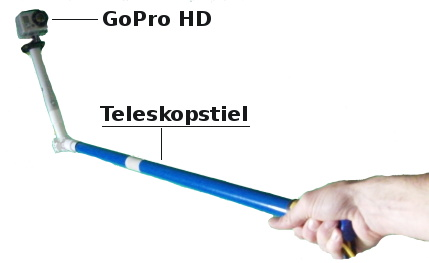 GoPro HD Hero Teleskopstiel