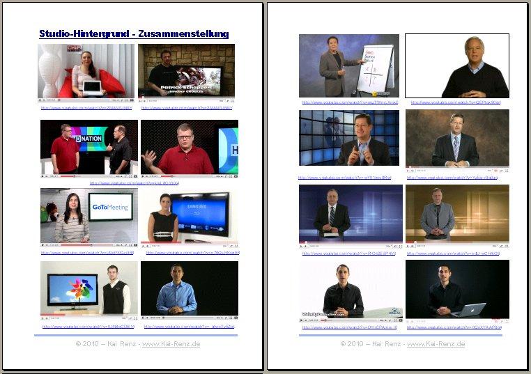 Videostudio: Hintergrund Design