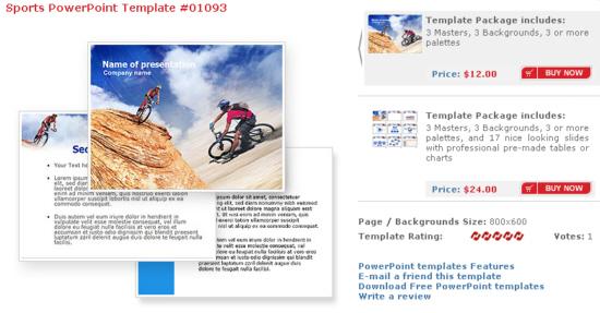 Powerpoint Sport Vorlage Präsentation
